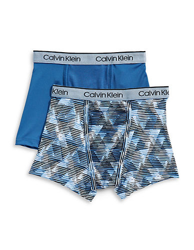 Calvin Klein Two-Pack Performance Boxer Set-BLUE GEO-X-Large 89977207_BLUE GEO_X-Large
