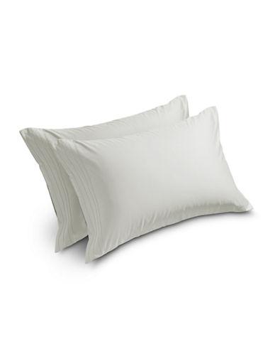 Barbara Barry Satin Tux Pillowcases-GREEN-King