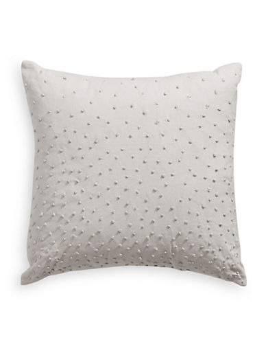Barbara Barry Texture Knot Throw Pillow-SILVER-One Size