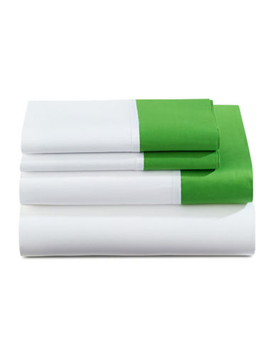 Kate Spade New York Grace Four-Piece Sheet Set-GREEN-Queen