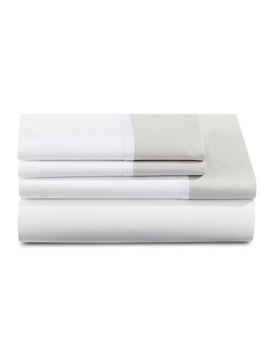 Kate Spade New York Grace Four-Piece Sheet Set-PLATINUM-Queen