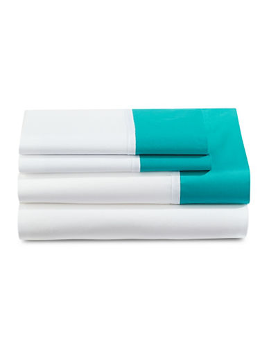 Kate Spade New York Grace Four-Piece Sheet Set-TURQUOISE-Twin