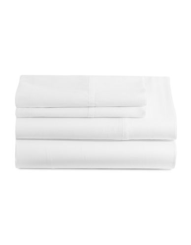 Kate Spade New York Grace Four-Piece Sheet Set-WHITE-Queen