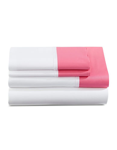Kate Spade New York Grace Four-Piece Sheet Set-PINK-Twin