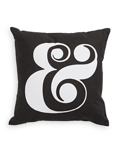 Kate Spade New York Ampersand Cushion-WHITE-18x18