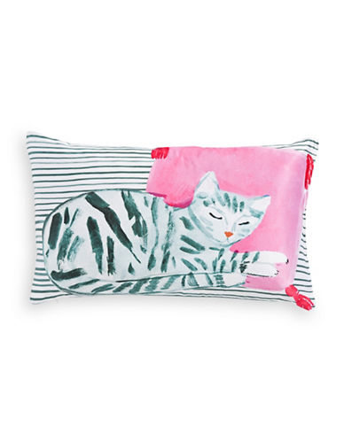 Kate Spade New York Cat Nap Oblong Silk-Blend Cushion-MULTI-One Size