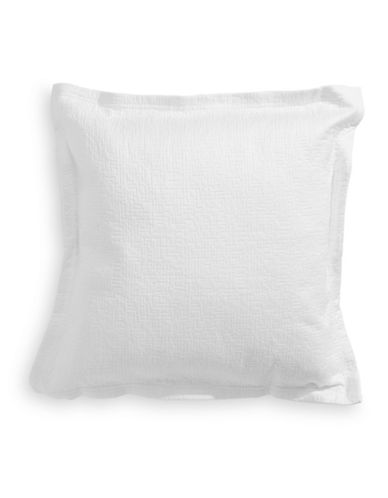 Barbara Barry Matelasse Square Cushion Pillow-WHITE-One Size