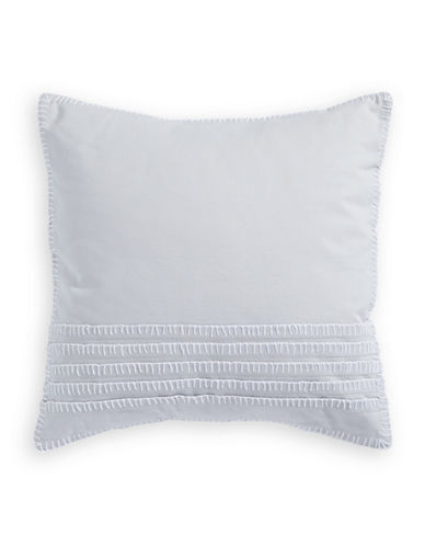 Barbara Barry Ascot Blanket Stitch Cushion-GREY-18x18