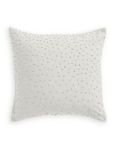 Barbara Barry Knot Textured Pillow-WHITE-One Size