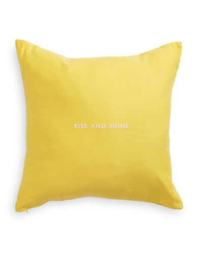 Kate Spade New York Rise and Shine Linen-Blend Cushion-DAFFODIL-18x18