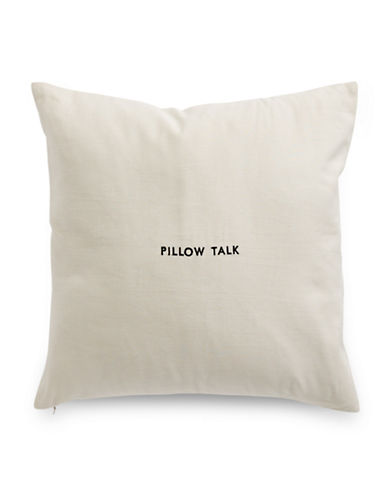 Kate Spade New York Pillow Talk Square Pillow-FLAX-18x18