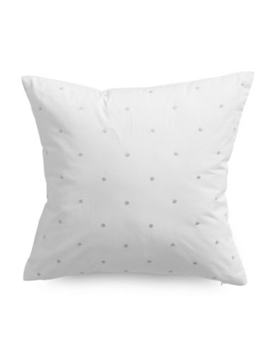 Kate Spade New York Bikini Dot Cushion-WHITE-16X16