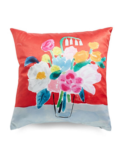 Kate Spade New York Painted Ogee Bouquet Pillow-MULTI-20x20