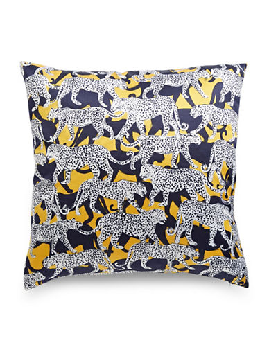 Kate Spade New York Leopard-Printed Pillow-YELLOW-20x20