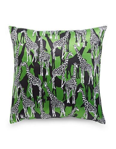 Kate Spade New York Giraffe-Printed Square Pillow-GREEN-20x20