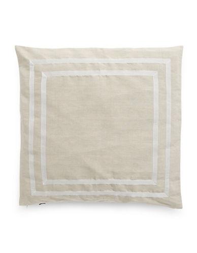 Kate Spade New York Double Border Square Pillow-BEIGE-European