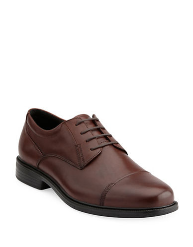 Bostonian Wenham Flexlite Leather Oxfords-BROWN-10