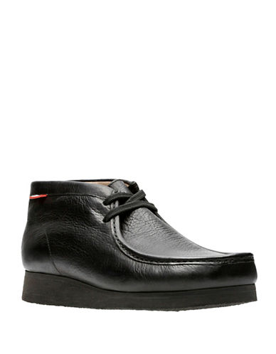 Clarks Stinson Hi Leather Boots-BLACK-9