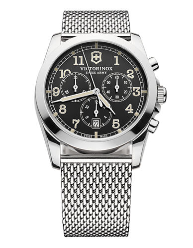 Victorinox Swiss Army Infantry Watch-SILVER-One Size