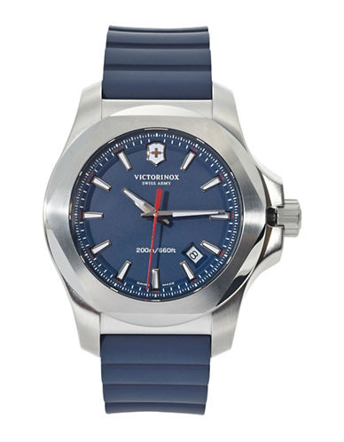Victorinox Swiss Army INOX Rubber Strap Watch-BLUE-One Size
