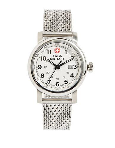 Swiss Military Urban Classic Slim Mesh Watch-SILVER-One Size