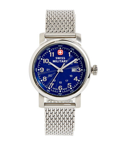 Swiss Military Urban Classic Stainless Steel Mesh Bracelet Watch-SILVER-One Size
