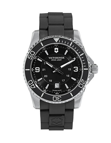 Victorinox Swiss Army Maverick Large Rubber Strap Analog Watch-BLACK-One Size