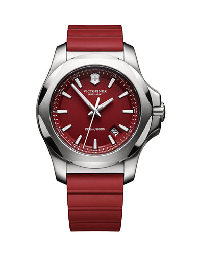 Victorinox Swiss Army Analog I.N.O.X Watch-RED-One Size
