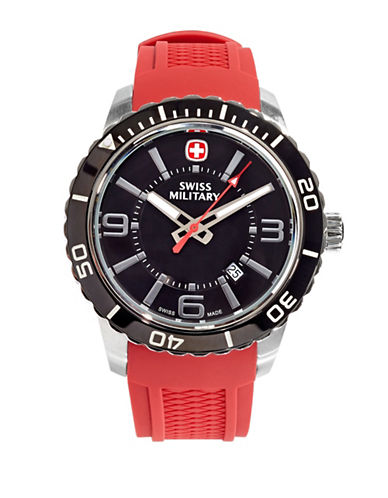Swiss Military Roadster Dial Watch-RED-One Size