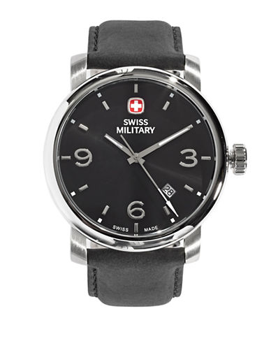 Swiss Military Classic Metro Numeral Watch-BLACK-One Size