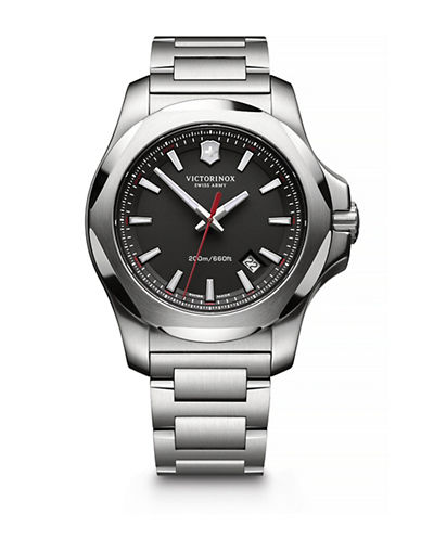 Victorinox Swiss Army I.N.O.X Stainless Steel Watch-SILVER-One Size