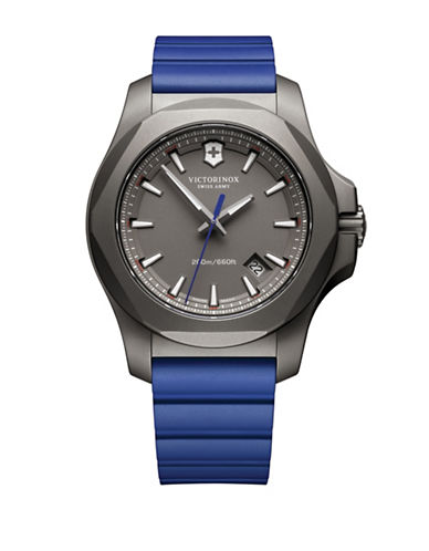 Victorinox Swiss Army I.N.O.X. Titanium Watch-BLUE-One Size