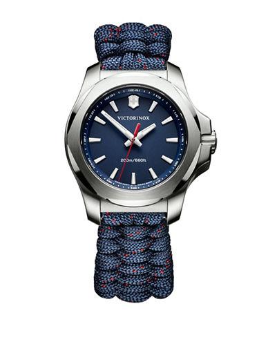 Victorinox Swiss Army Analog I.N.O.X. Stainless Steel Braided Strap Watch-BLUE-One Size