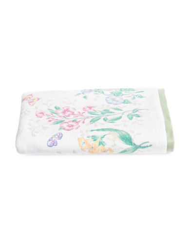 Lenox Butterfly Meadow Bath Towel-WHITE-Bath Towel