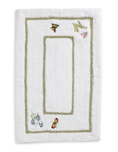 Lenox Butterfly Meadow Bath Rug-WHITE-20x30