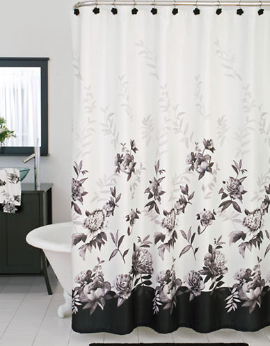 Lenox Moonlit Garden Collection Shower Curtain-WHITE-One Size