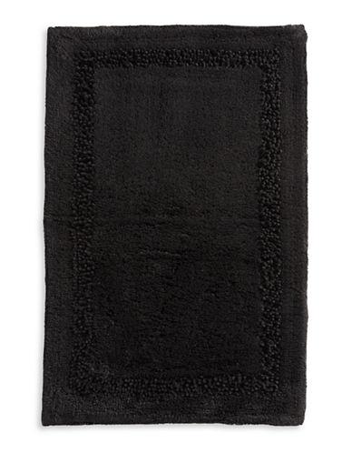 Lenox Framed Cotton-Blend Bath Rug-BLACK-20x30