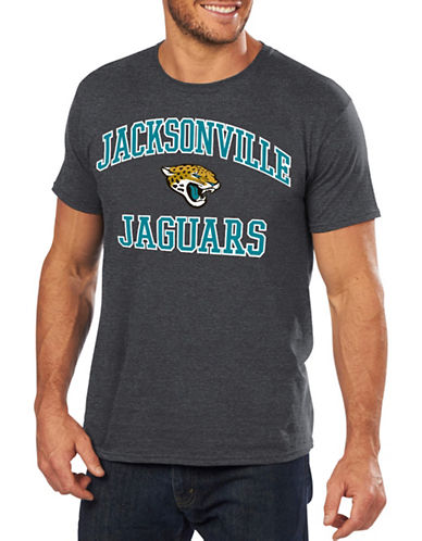 Majestic Jacksonville Jaguars Cotton Tee-GREY-Small