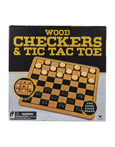 Kroeger Wood Checkers and Tic Tac Toe in a Box-MULTI-One Size