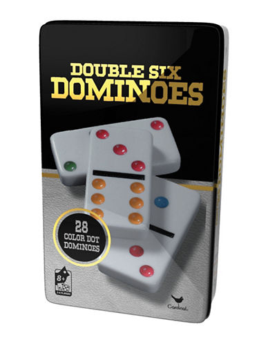 Kroeger Set of 28 Double Six Colour Dominoes-MULTI-One Size