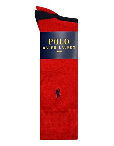 Polo Ralph Lauren Mens Two-Pack Mid-Calf Socks-RED-10