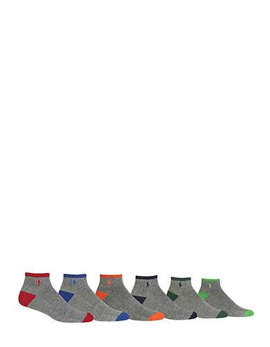 Polo Ralph Lauren Mens Six-Pack Quarter-Length Socks-ASSORTED-7-12