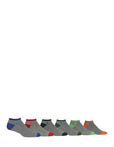 Polo Ralph Lauren Mens Six-Pack Sport Socks-ASSORTED-7-12