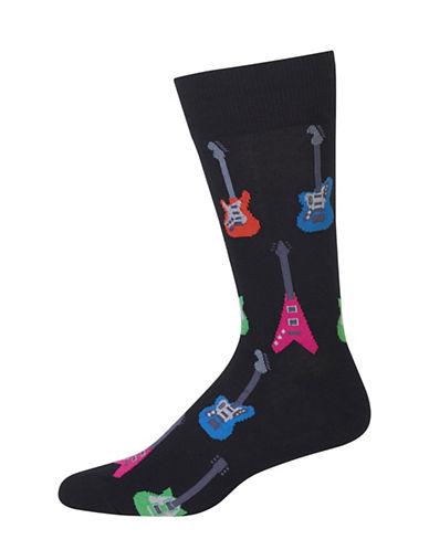 Hot Sox Electric Guitars Crew Socks-BLACK-10