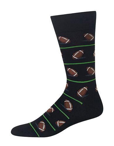 Hot Sox Football Crew Socks-BLACK-10