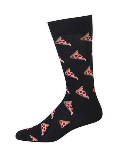 Hot Sox Pizza Crew Socks-BLACK-10