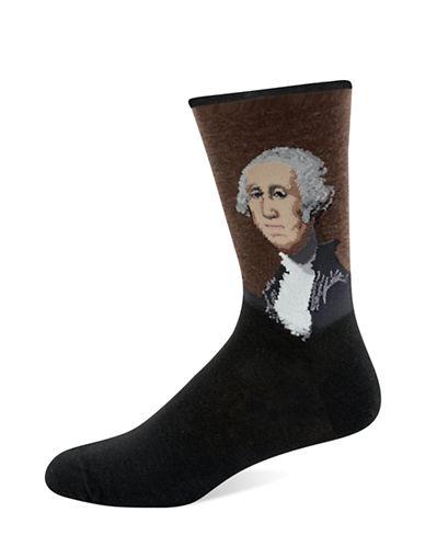 Hot Sox Mens George Washington Socks-GREY-10