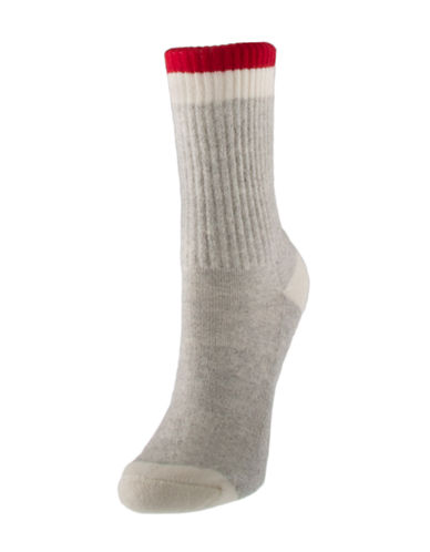 Hot Sox Degas Study Dancer Crew Socks-BEIGE-One Size