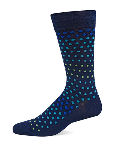 Hot Sox Navy Varigated Dot Slack-NAVY-10-12