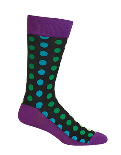 Hot Sox Mens Ombre Dots Socks-VIOLET-10